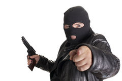 Balaclava man Stock Photo