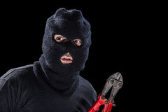 Balaclava and shears Royalty Free Stock Photography