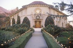 Balad House Decorated with Christmas Lights, Pasadena, California Stock Images