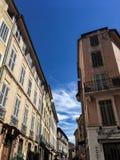 Aix en Provence balade dans la ville. Balade dans la nature sous ciel bleu. Weekend et vacances en Provence à Aix en Provence royalty free stock photo