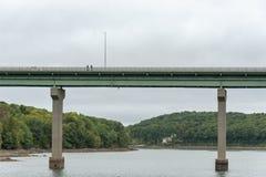 Balade de pont à Belfast, Maine image libre de droits