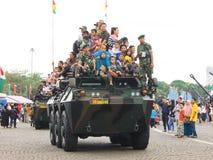 Balade en voiture de véhicule blindé d'Anoa-2 6x6 Photographie stock libre de droits
