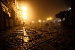 Balade le long des rues d'Erice Photos stock
