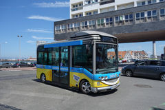 Baladin free city shuttle in Calais Royalty Free Stock Images