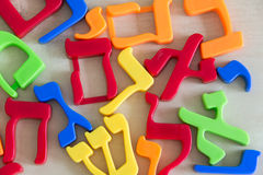 Balagan from Hebrew letters. Chaos from Hebrew letters (random sorting Royalty Free Stock Images