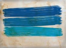 Balai d'aquarelle d'Abstrach sur le papier Photographie stock libre de droits