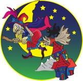 Balai du ` s de sorcière illustration de vecteur