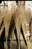 Balai en bambou Photos stock