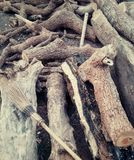 Balai en bois Photographie stock