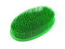 Balai en caoutchouc vert de bain image stock
