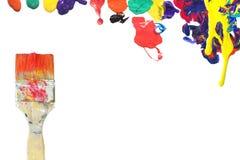 Balai et peinture images libres de droits