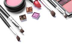 Balai et produits de beauté de renivellement Photos libres de droits