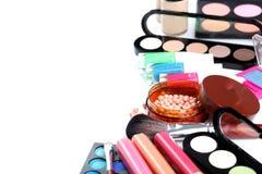 Balai et produits de beauté de renivellement Photographie stock