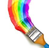 Balai multicolore Photographie stock libre de droits