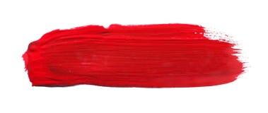 Balai rouge d'aquarelle image libre de droits