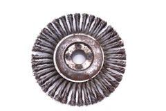 Balai tournant en métal ou disque de meulage Image libre de droits