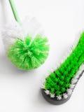 Balais de nettoyage de frottement Photo stock