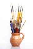 Balais de peinture Photos libres de droits