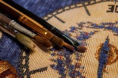 Balais pour la peinture Images libres de droits