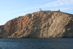 balaklava克里米亚堡垒港口 免版税库存照片