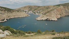 Balaklava è località di soggiorno della Crimea popolare Precedente base sottomarina della baia archivi video