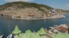 Balaklava è località di soggiorno della Crimea popolare Precedente base sottomarina della baia stock footage