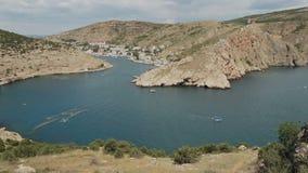 Balaklava è località di soggiorno della Crimea popolare Precedente base sottomarina della baia video d archivio