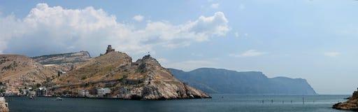 Balaklava. The harbor at Balaklava near Sevastopol in Crimea, Ukraine royalty free stock photos
