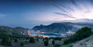Balaklava. Bay in night time royalty free stock image