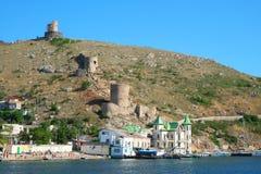 BALAKLAVA, CRIMEA - june 20, 2014: : Panorama of Balaklava sea b Royalty Free Stock Photos
