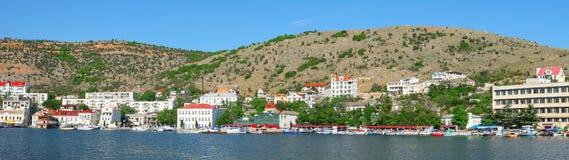 BALAKLAVA, CRIMEA. Panorama of Balaklava sea b Stock Photography
