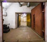 Balaklava, Crimea - September 2016: Door in secret underground submarine base in Sevastopol royalty free stock photo