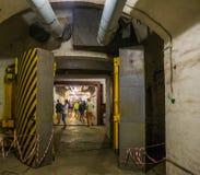 Balaklava, Crimea - September 2016: Secret underground submarine base in Sevastopol. royalty free stock images