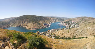 Balaklava fjärd, Crimea, Ukraina royaltyfria foton