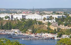 Balaklava harbour in Sevastopol Royalty Free Stock Image