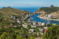 Balaklava Is Popular Crimean Resort. Bay Former Submarine Base. Royalty Free Stock Photography