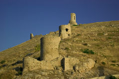 balaklava Krym cembalo stary fort obrazy stock