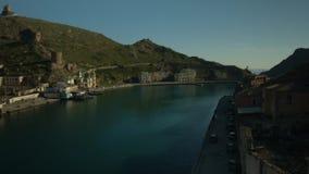 Balaklava miasto w zatoce zdjęcie wideo