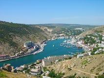 Balaklava, o Mar Negro, Ucrânia Fotos de Stock Royalty Free