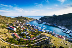 Balaklava panorama view. City near Black Sea Royalty Free Stock Images