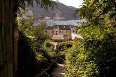 Balaklava schronienia i miasteczka widok Zdjęcia Royalty Free