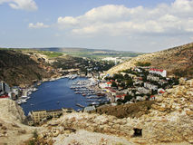 Balaklava town and Balaklava Bay, Crimea Royalty Free Stock Photos