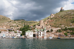 Balaklava views,  fortress Cembalo, Crimea Royalty Free Stock Images