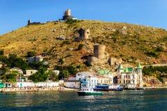 Balaklava zatoka miejski krajobrazu Fotografia Royalty Free