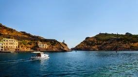 Balaklava zatoka miejski krajobrazu Obrazy Royalty Free