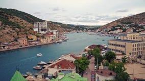 Balaklavabaai Sebastopol de Krim stock footage