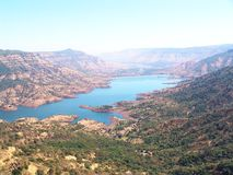 Dam. Balakwadi lake and dam in Mahabaleshwar hill station in India Stock Photo