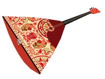 balalaica da rendição 3d Instrumento musical amarrado povos do russo Foto de Stock