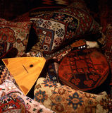 Balalaika. Orientasl rugs and pillows with balalaika Royalty Free Stock Images