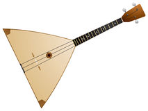 Balalaika. Is a Russian traditional stringed musical instrument, with a characteristic triangular body and three string, music Stock Images